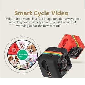 Borme Spy Hidden Camera Car recorder DVR, Mini Recorder action Camera Full HD 1080P DV Sports Action Camera Spy Camera RED/ With Night Vision