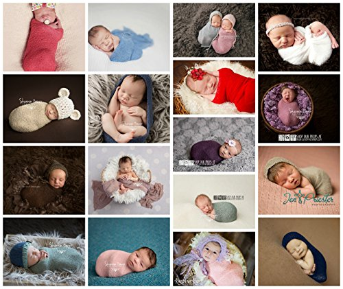 Newborn Photo Props *23 Colors to Choose From* Nubble Stretch Knit Baby Wraps