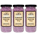Village Naturals Therapy Aches and Pains Nighttime Relief Mineral Bath Soak 20oz 3 pack (3)