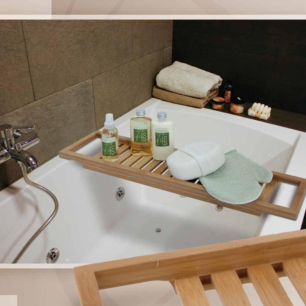 BAMBUS Badewannenablage Badewannenaufsatz