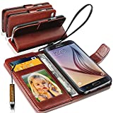 SAMSUNG GALAXY S4 MINI Rich Leather Stand Wallet Flip Case Cover Book Pouch / Quality Slip Pouch / Soft Phone...