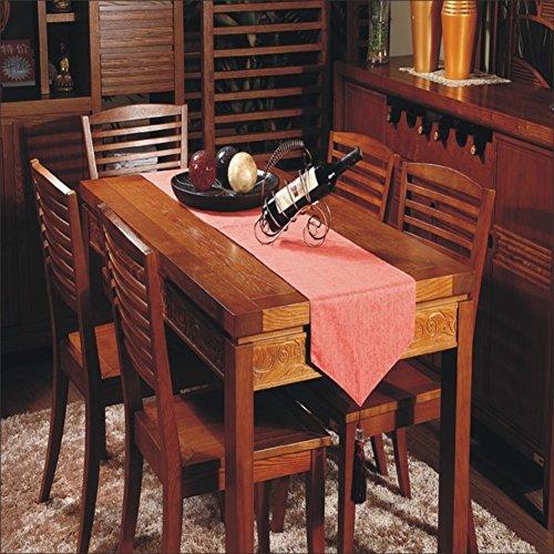 simple Chinese modern table runner/ American linen table runner/European fashion classic coffee table cloth/ table cloth-B 33x220cm(13x87inch)