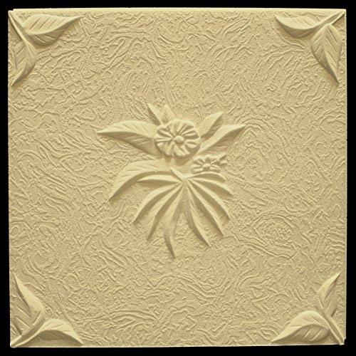 30 m2 deckenplatten deckenverkleidung platten dekoration 50x50cm natura beige. Black Bedroom Furniture Sets. Home Design Ideas