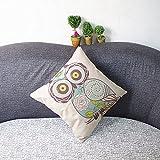Weihnachten-Sofa-Deko-Leinen-Kissenhlle-Zierkissenbezug-Geschenkidee-Tiere-Muster-Grundfarbe-Beige-Eule-und-Rosa