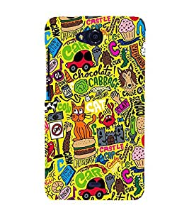 Chocolate Bulky Cat 3D Hard Polycarbonate Designer Back Case Cover for Micromax Canvas Play Q355