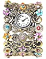 COCOTINA Vintage Rhinestone Crystal Cuff Bracelet Bangle Watch Quartz Lady Women Gift