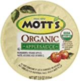 Mott's Organic No Sugar Added Apple Sauce, 3.9 Ounce, 36 Count
