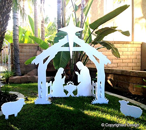 Nativity Scene Outdoor Christmas Decoration: Giant Outdoor Nativity Scene