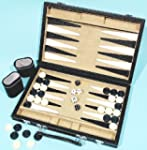 Backgammon set, leatherette 12 inch 0...