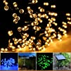 Lycheers®colour Solar Christmas String 17m 100 LED Solar Fairy String Lights for Outdoor,…