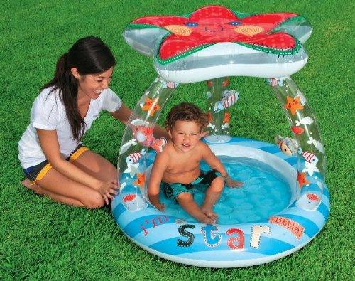 Intex 57428EP Lil'Star Shade Baby Pool кровать comfort plush 152х203х56см со встроенным насосом 220в intex 64418