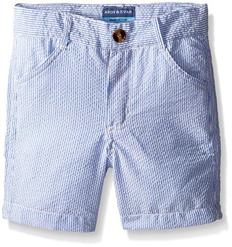 Andy & Evan Toddler Boys Seersucker Shorts, Navy, 4T