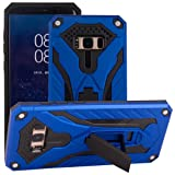 Galaxy Note5 Foldable Stand Case, Very Light Slim Chivalry Warrior Armor Pattern Movie Kickstand, WEIFA New Super Cool Anti-Drop Thin Cellphone Armour Cover Case for Samsung Galaxy Note 5 Blue (Color: !Blue, Tamaño: Samsung Galaxy Note5)