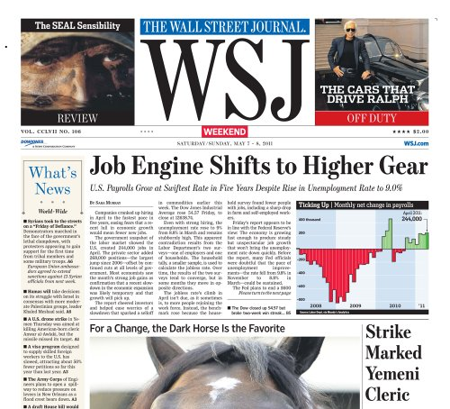 The Wall Street Journal (weekend edition)