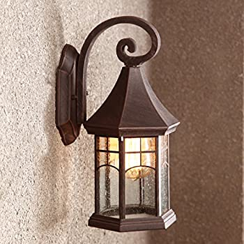 BAYCHEER HL409901 Industrial Retro Style Aged Pewter Brushed waterproof Outdoor Wall Light Wall Sconce with 1 Light