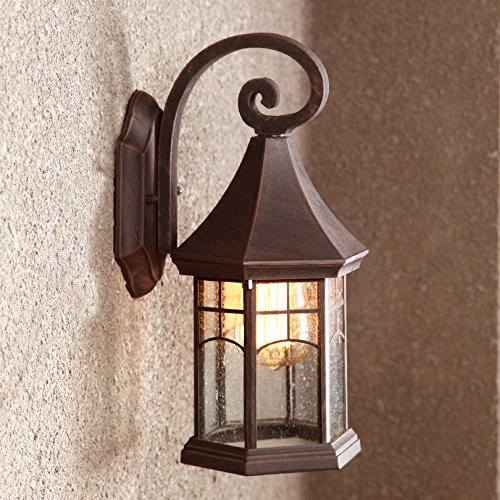 BAYCHEER HL409901 Industrial Retro Style Aged Pewter Brushed waterproof Outdoor Wall Light Wall Sconce with 1 Light 1