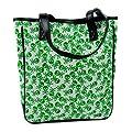 Green Skull & Crossbones Tote Bag
