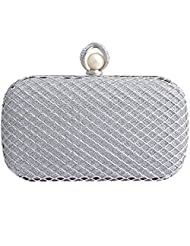 Super Drool Pearl And Crystals Clasp Clutch For Women
