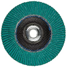 "3M Flap Disc 577F, T27, Alumina Zirconia, Dry/Wet, 4-1/2"" Diameter, 40 Grit, 5/8""-11 Thread Size (Pack of 1)"