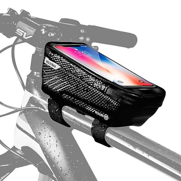 Bicycle Cycling Bike Front Top Tube Frame Bag MTB Phone Holder Case Waterproof