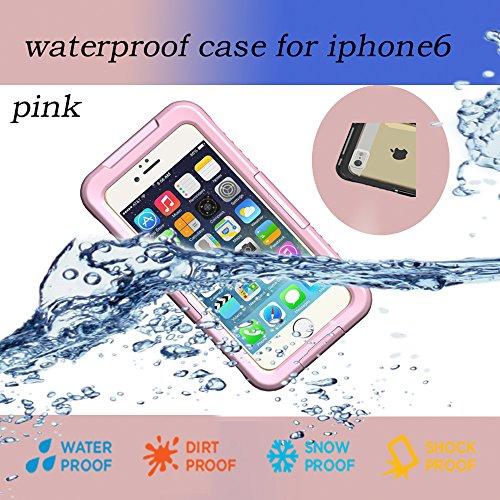 Nancy'S Shop Iphone 6 Waterproof Case,Waterproof Shockproof Dustproof Snowproof Protective Case Cover For Iphone 6 (4.7 Inch) (2 - Pink Nancy'S Shop Iphone 6 Waterproof Case)