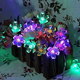 innoo tech guirlande guirlande lumineuse d corative 40 led en forme forme de fleurs. Black Bedroom Furniture Sets. Home Design Ideas