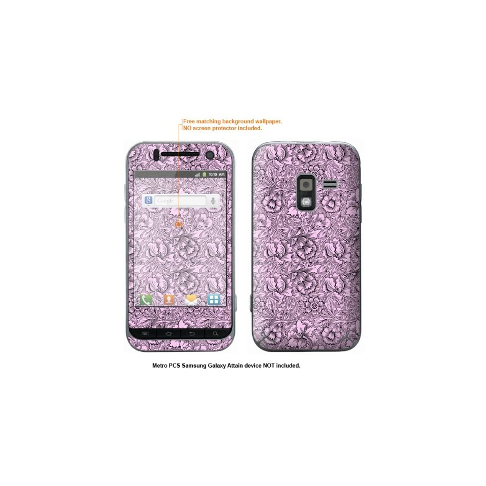 Protective Decal Skin Sticker for Metro PCS Samsung Galaxy Attain 4G case cover Attain 182