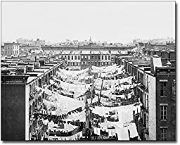 New York City 1900 Laundry on Clotheslines 11x14 Silver Halide Photo Print