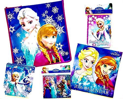 [7 item LIMITED Disney Bundle Frozen Exclusive [Bag, Calendar, Folder, Notepad, Notepads, Diary]] (Epic Diy Halloween Costumes)