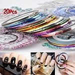 SODIAL(R) 20 pcs nail Striping Tape T...
