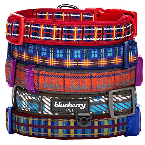 Blueberry-Pet-Soft-Comfortable-Classic-Scottish-Tartan-Pattern-Ultra-soft-Neoprene-Padded-Dog-Collar