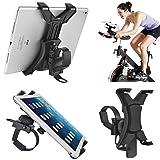Tablet Holder for Spinning Bike,Universal iPad Mount for Indoor Gym Equipment Treadmill Exercise Bike,Adjustable 360° Swivel Bracket Stand for 7-12