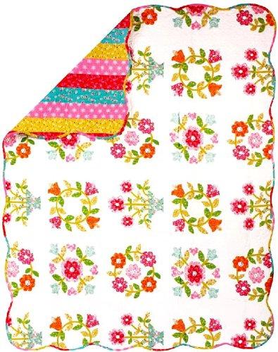 Manual Reversible Quilt, Dutch Floral, 50 X 60-Inch front-907324