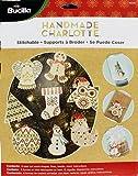 Bucilla Handmade Wood Stitchable Kit, 3 by 3-Inch, 86559 Shapes (Set of 8)