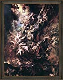 """Peter Paul Rubens The Fall of the Damned - 18.5"""" x 24.5"""" Framed Premium Canvas Print"""
