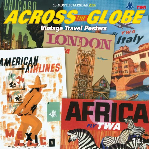 Across the Globe Vintage Travel Posters 2014 Square 12x12