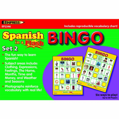 SPANISH IN A FLASH BINGO SET 2