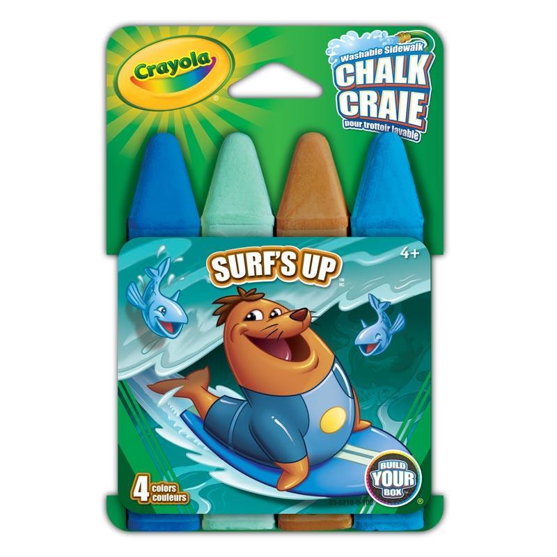 Amazon.com: Crayola Build Your Box Surfs Up Chalk (4 Count): Toys ...
