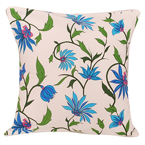 RISA BLUE SPRING COTTON CUSHION COVER - SET OF 5 ( 12