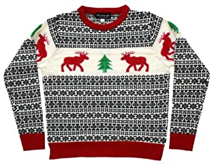 Ugly Christmas Sweater - Holiday Reindeer Women's Sweater in Antique