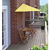 Blue Star Group Terrace Mates Villa Standard Olefin Table Set, 9'-Height, Yellow