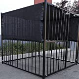 10' X 10' Black UV Rated Dog Kennel Shade Cover W/Grommets