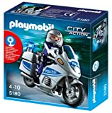 Toy - PLAYMOBIL 5180 - Polizeimotorrad mit Blinklicht