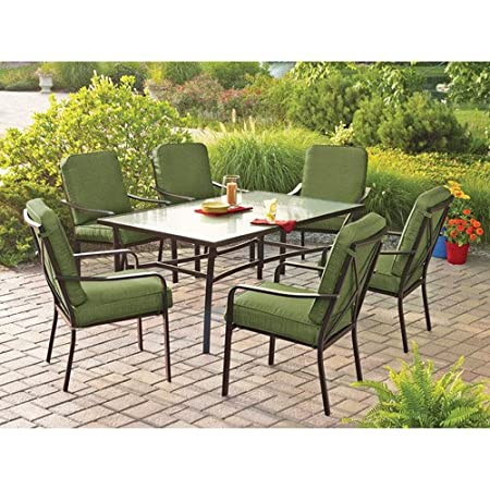 Patio Furniture Crossman 7-Piece Patio Dining Set, Green, Seats 6