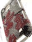 Shockwize (Tm) Diamas Series Samsung Galaxy Proclaim S720C & Samsung Illusion i110 Diamond Bling Skin Shell Armor Protector Cover Case Shock Absorbing Rigid Hybrid (Straight Talk, Verizon) S720C i110 (Bling Floral Red / Black)