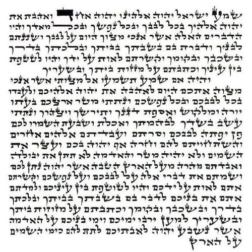 Holy Land Market Kosher Parchment from The Artazia Collection Mezuzah Scroll