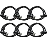 SEISMIC AUDIO - SARAX3 - 6 PACK of 3' Right Angle XLR to XLR Patch Cables (Color: Black)