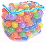 Wonder Playball Non-Toxic 200 Phthalate Free Crush Proof Pit Balls, Red, Orange, Yellow, Green, Blue and Purple, 6.5 cm (Toy)