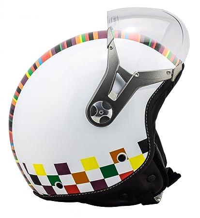 SOXON SP-325 Couleur casque JET moto Cruiser Pilot - Taille: XS S M L XL