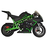 Pocket Bike Mini Motorcycle Gas 40CC Powered Ride On White Boys Girls Youth New (Color: White)